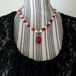 Pearl and Rubies Necklace